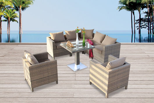 rattan lounge dining rattan tisch rattan esstisch set. Black Bedroom Furniture Sets. Home Design Ideas